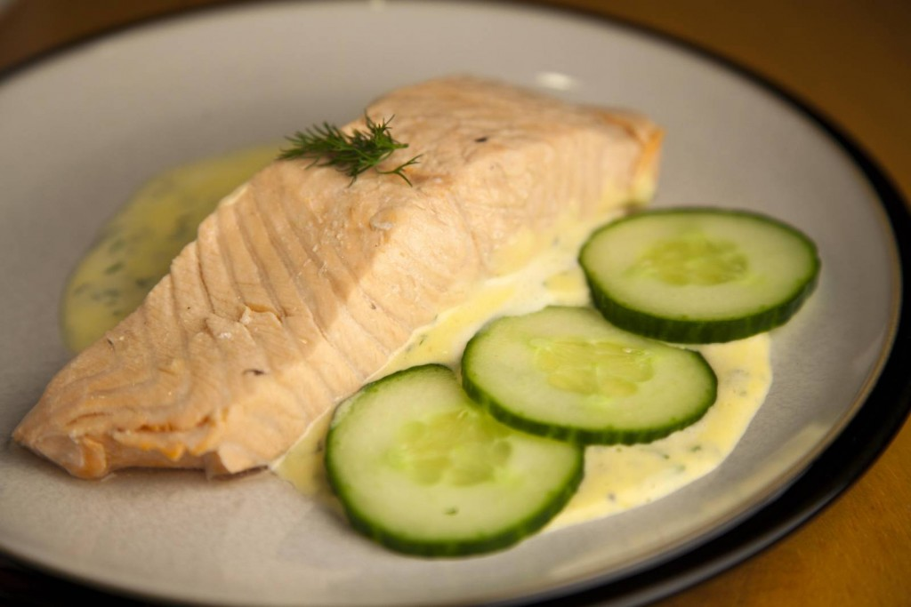 Poached Salmon With Mousseline Sauce Titanic Replica Dish